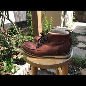 aldo winter leather boots size 9 with fur